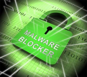 An image featuring malware blocker concept