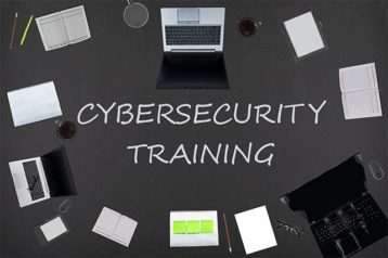 An image featuring cybersecurity training for a company concept