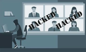 An image featuring a hacker that has hacked multiple people concept