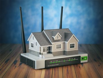 An image featuring home network concept