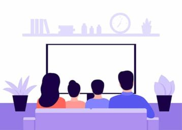 An image featuring watching TV concept