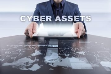 An image featuring company cyber assets concept
