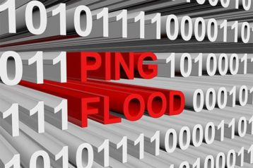 An image featuring text that says ping flood concept