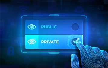 An image featuring public vs private concept