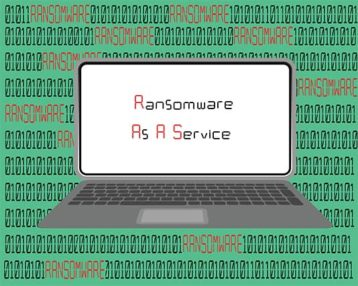 An image featuring ransomware as a service RaaS concept