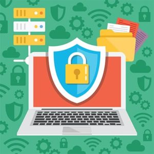 An image featuring antivirus protection concept