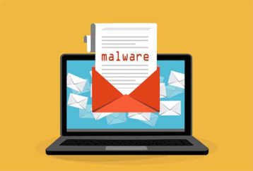 An image featuring email malware concept
