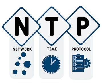 An image featuring network time protocol concept