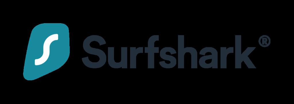 An image featuring the Surfshark VPN logo